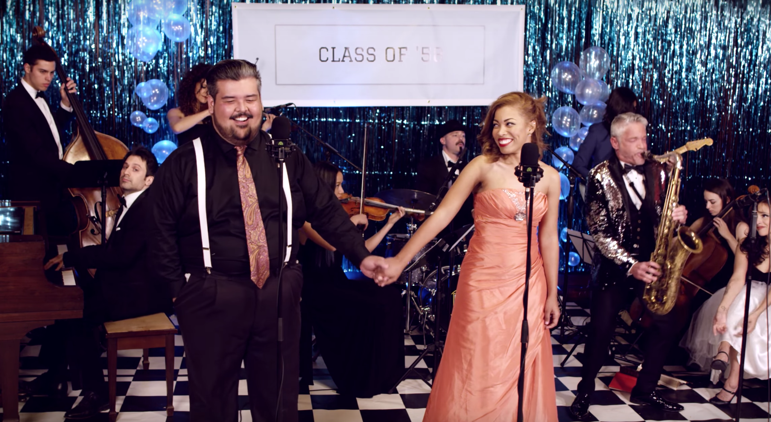 Perfect Duet – Ed Sheeran & Beyonce ('50s Prom Cover) ft. Mario Jose, India Carney & Dave Koz