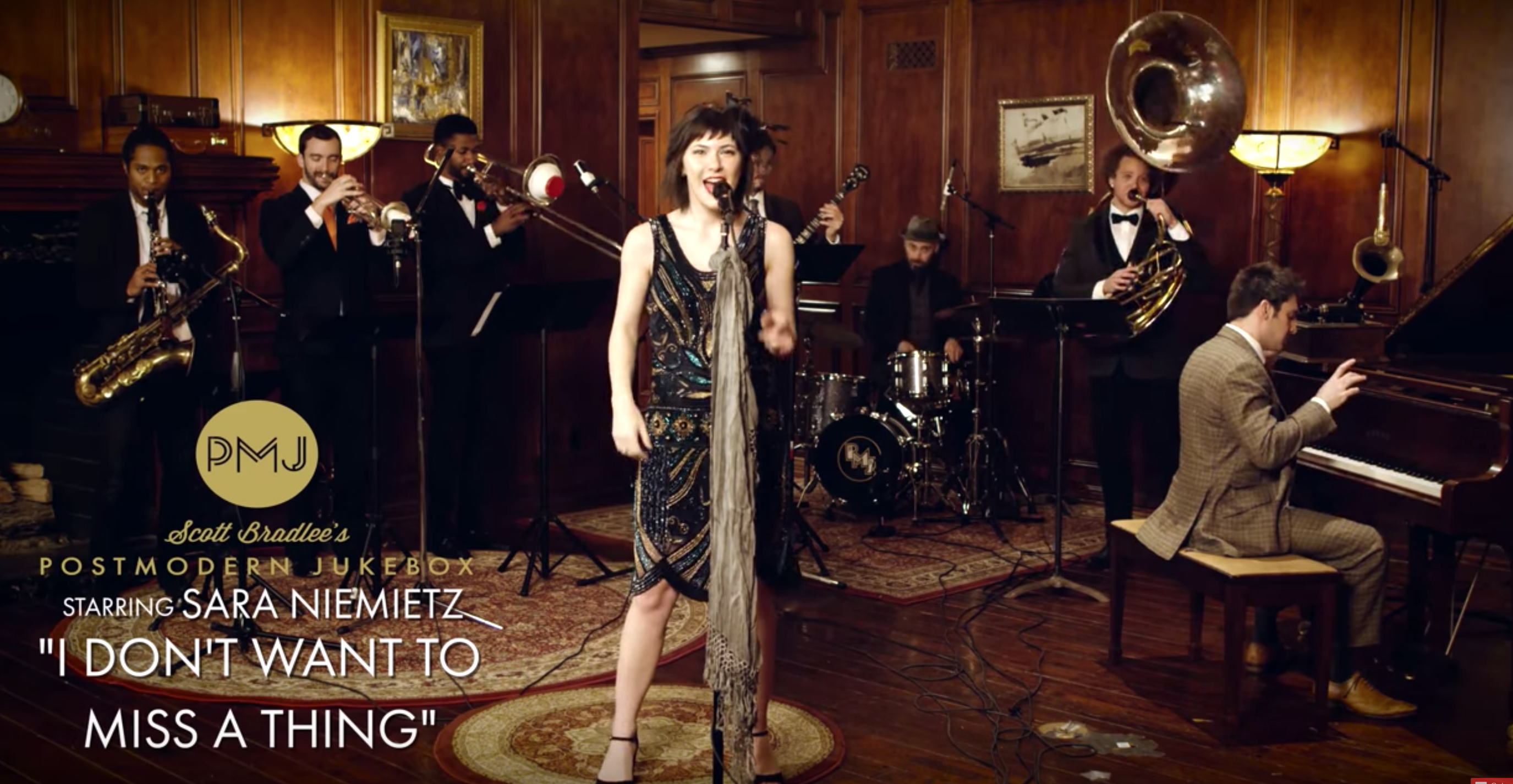 I Don't Want To Miss A Thing – Aerosmith (1920s Brass Band Cover) ft. Sara Niemietz
