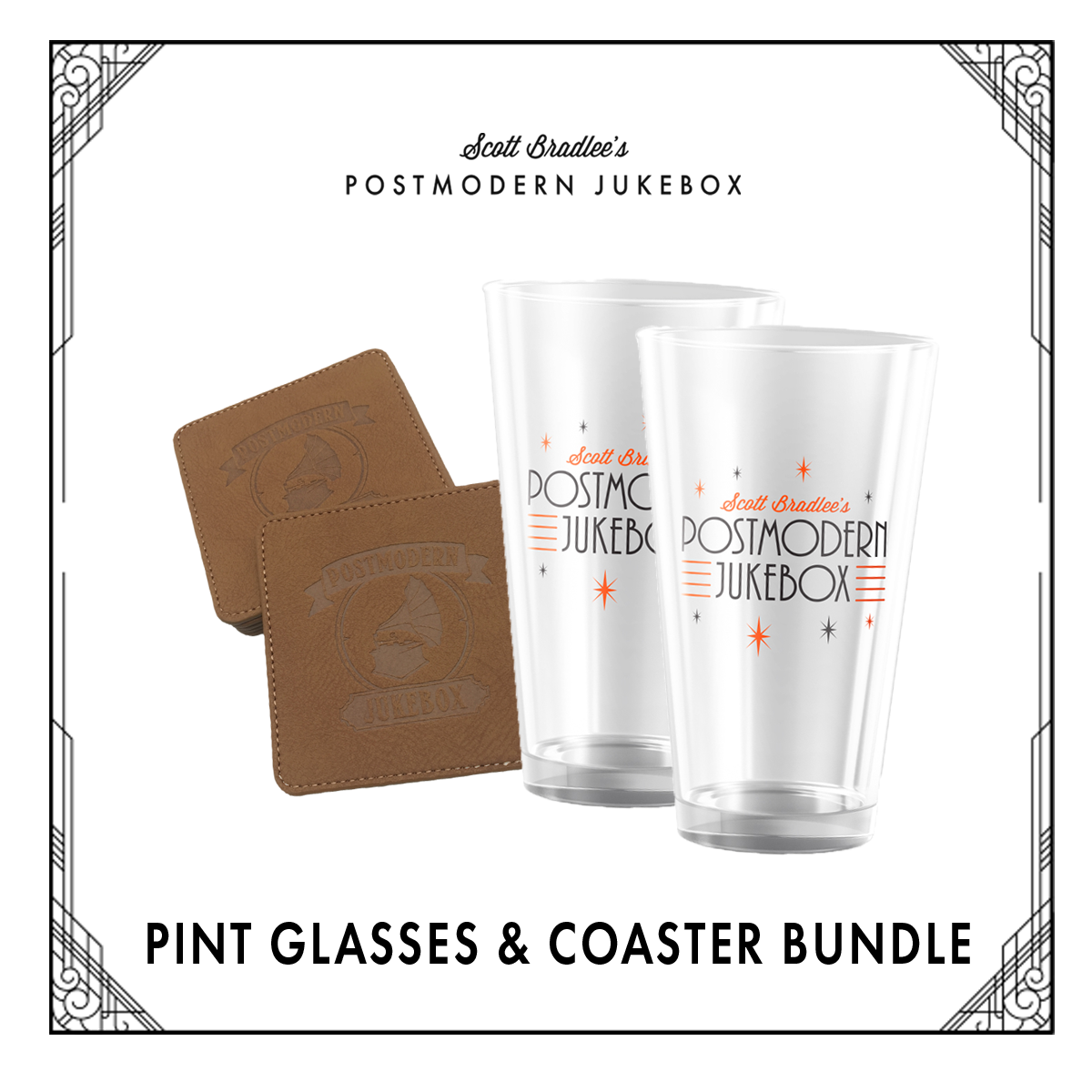 BUNDLE-GLASS&COASTER